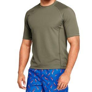2 Men's Short Sleeve Swim Tee Rash Guards L EUC